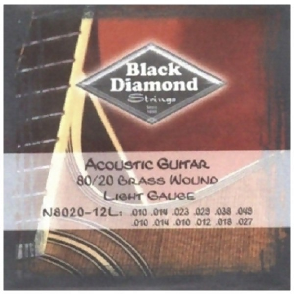 """Αξεσουαρ - Μουσικα Οργανα Αθηνα - BLACK DIAMOND N8020-12L Χορδές Ακουστικής Κιθάρας Μουσικός Οίκος """"Τρίμη"""""""