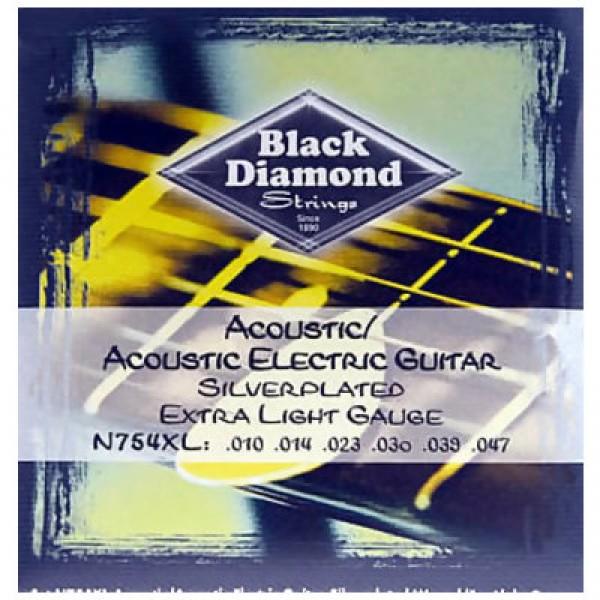 """Αξεσουαρ - Μουσικα Οργανα Αθηνα - BLACK DIAMOND N754XL Χορδές Ακουστικής Κιθάρας Μουσικός Οίκος """"Τρίμη"""""""